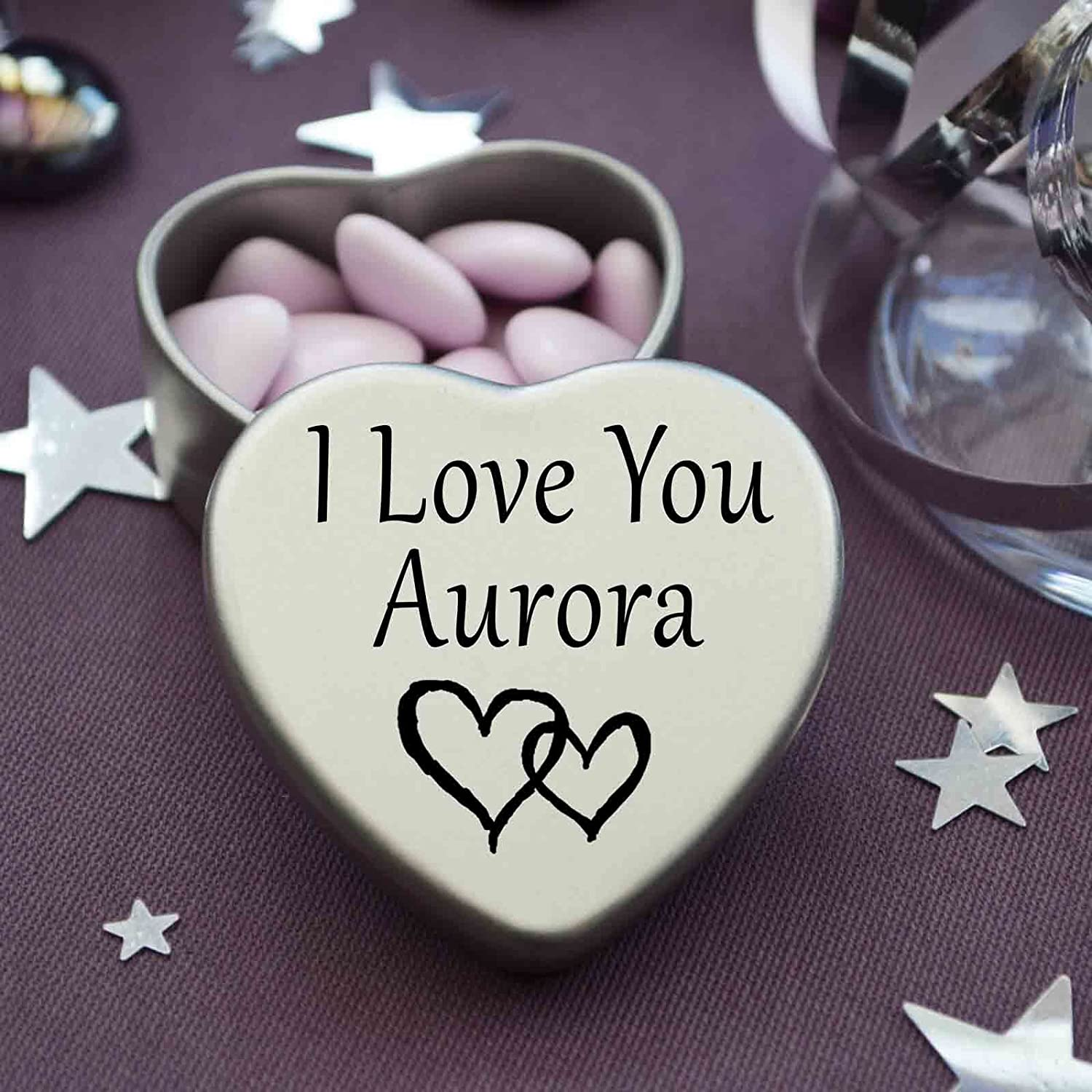 I love you aurora mini heart tin gift for i heart aurora with i love you aurora mini heart tin gift for i heart aurora with chocolates silver heart tin fits beautifully in the palm of your hand thecheapjerseys Image collections