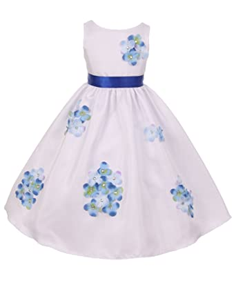 67743beeee9 Amazon.com  Kid s Dream Girls Shantung Flower Petal Special Occasion Dress  Sizes 2-14  Clothing