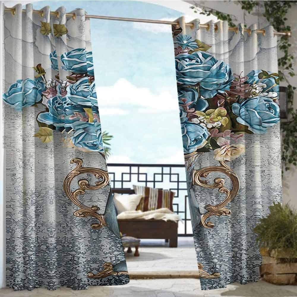 Andrea Sam - Cortina de privacidad para Exteriores para pérgola, Flores, Flores Bonitas, Vintage (81) para Porche Delantero Cubierto para Patio, cenador, calcetín de Playa, casa: Amazon.es: Hogar