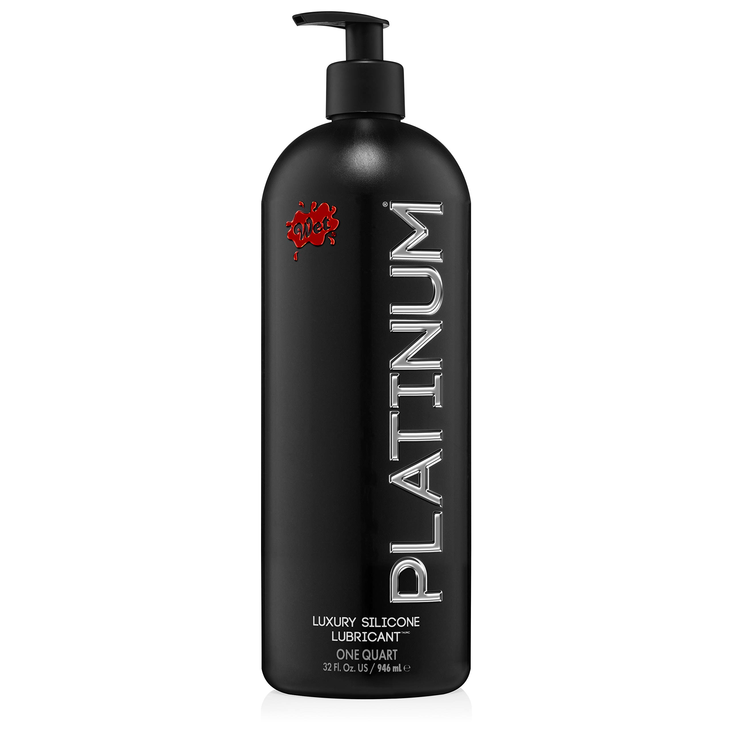 Wet Platinum Lube - Premium Silicone Based Personal Lubricant, 32 Ounce by Wet
