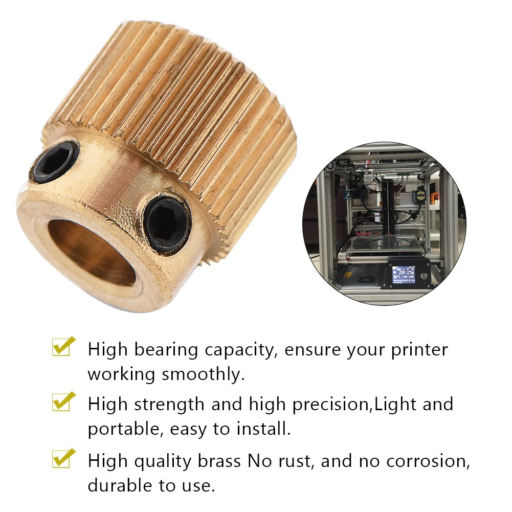 MK8 26//40 Tooth Accessories Electronics 3D Printer Parts Extruder Drive Brass
