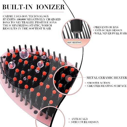 Cepillo alisador BESTOPE, un peine anionico maravilloso de ceramica para enderezar su cabello a diario: Amazon.es: Belleza