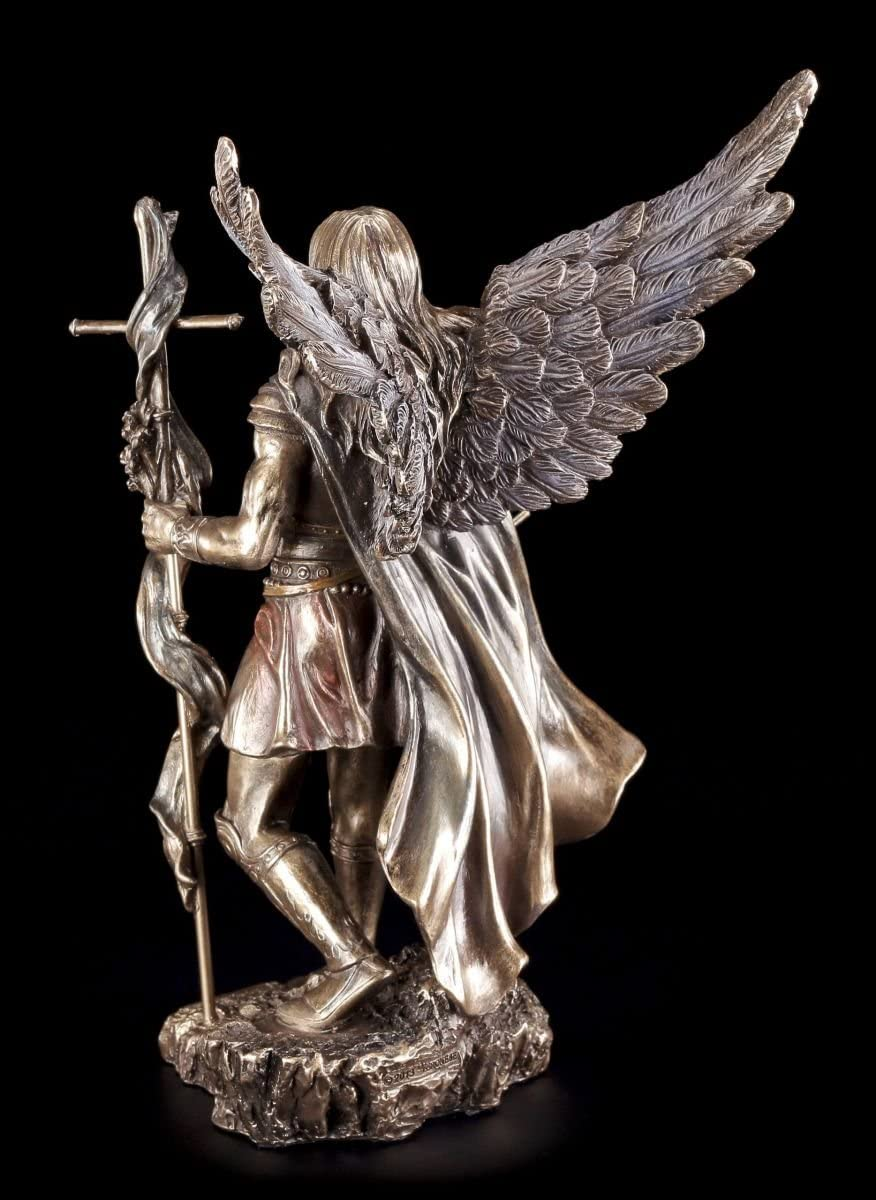 /Veronese Archange Gabriel Figurine avec baguette et Moyens de trompette/