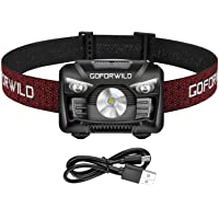 Rechargeable Headlamp, 500 Lumens White Cree LED Head Lamp Flashlight with Redlight and Motion Sensor Switch, Perfect…