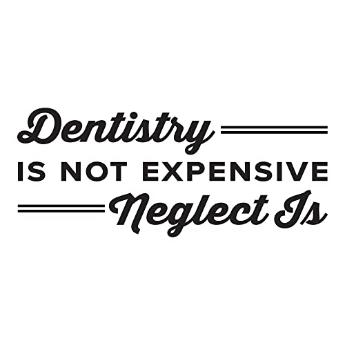 Amazon.com: Dentistry Is Not Expensive Neglect Is. - 0360 - Home Decor -  Wall Decor - Dental - Dentist - Teeth - Oral Hygiene - Floss: Handmade