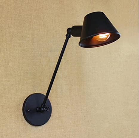 PST@ Wall Light Loft american Mechanical Arm France Jielde table reading Lamp lamparas de pared Retractable Vintage iron wall lamp - - Amazon.com