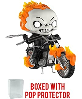Funko Pop! Rides: Marvel Classic Ghost Rider with Motorcycle PX Exclusive Vinyl Figure (