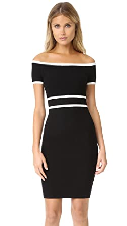 Ali Jay Womens Off Shoulder Sweater Dress Blackwhite Small At