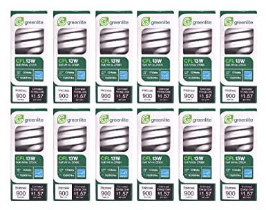 Greenlite Lighting 13W/ELS-U 13 Watt 2700K Ultra Mini Spiral CFL Bulb (  sc 1 st  Amazon.com & Greenlite Lighting 13W/ELS-U 13 Watt 2700K Ultra Mini Spiral CFL ...