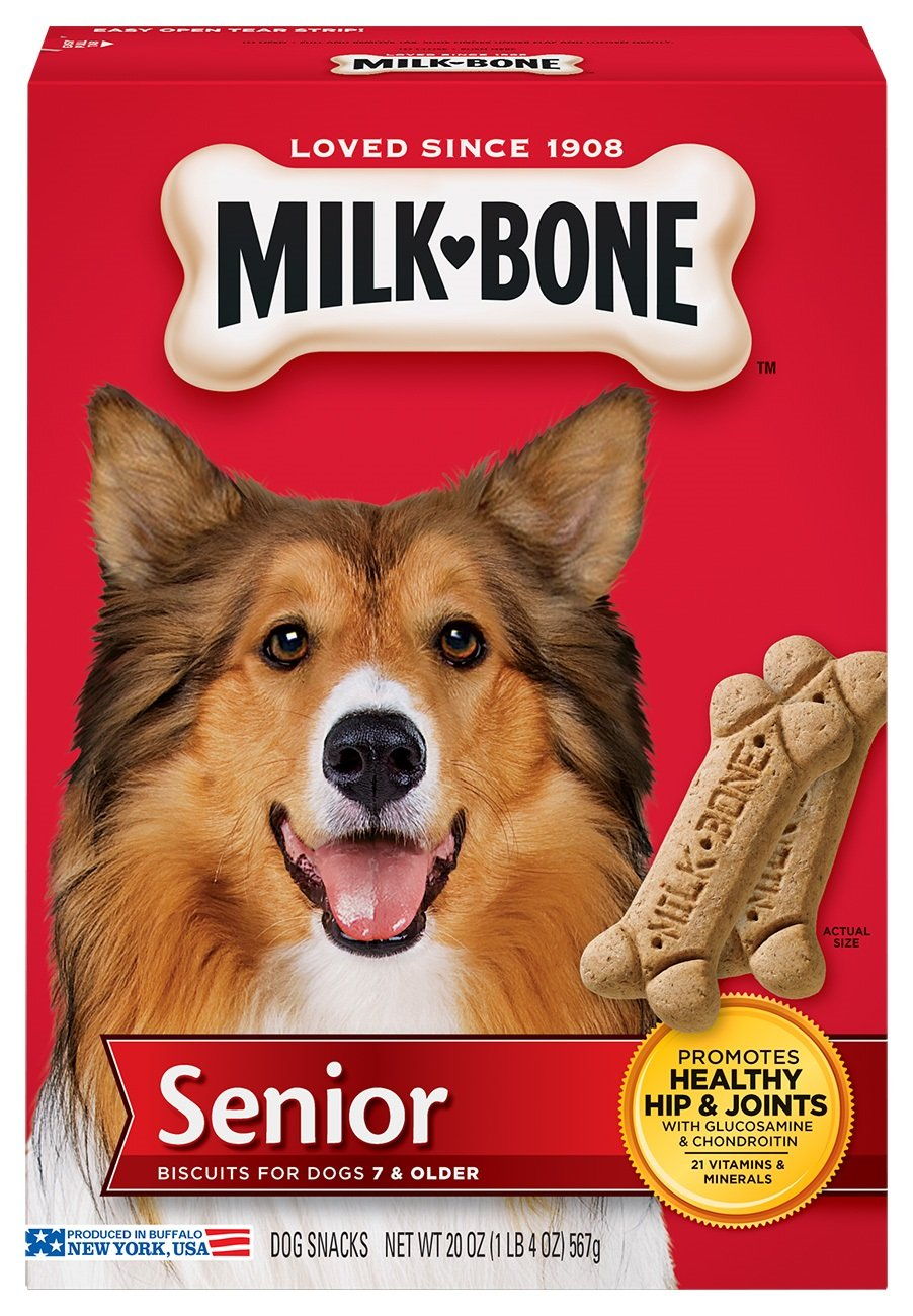 Milk-Bone Original Senior Dog Biscuits, 20-Ounce, Pack of 4
