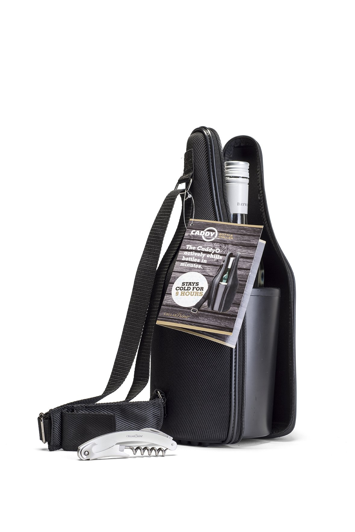 CaddyO WT-04 Black Wine Tote