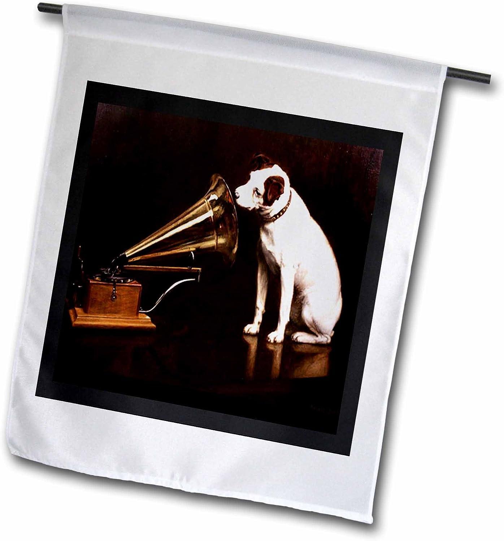 3dRose fl_39018_1 Vintage RCA Dog and Victrola Garden Flag, 12 by 18-Inch