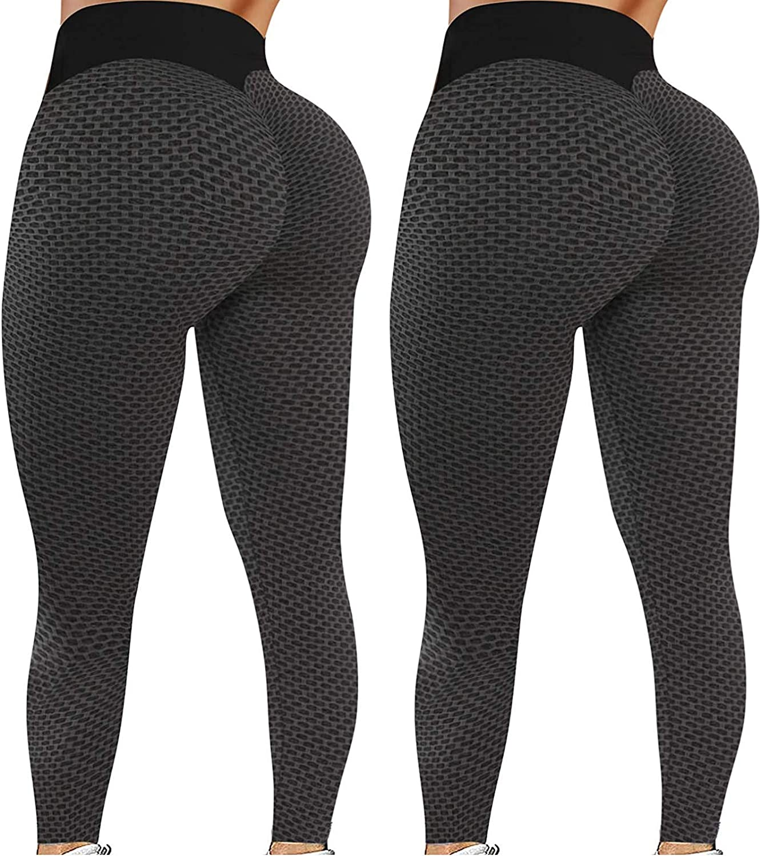 Yoga Pants for Women High Waist Tummy Control Booty Bubble Hip TikTok Leggings