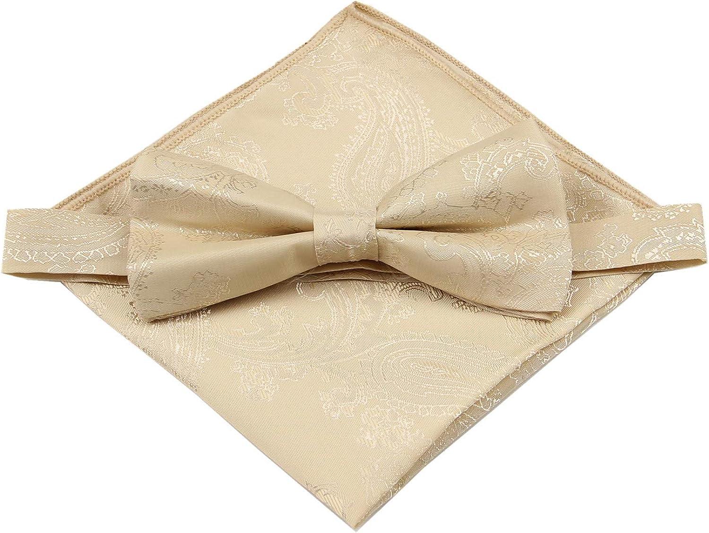 Details about  /Men/'s Self Tie Burgundy Red Paisley Bow Tie Cufflinks Hanky Neckwear Set CR04