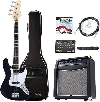 Rocktile Pack bajo eléctrico Fatboy II Starter negro (pack completo): Amazon.es: Instrumentos musicales