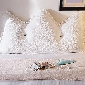 Bett Kissen plüsch farb bett kissen 2 personen rückenlehne kern watte