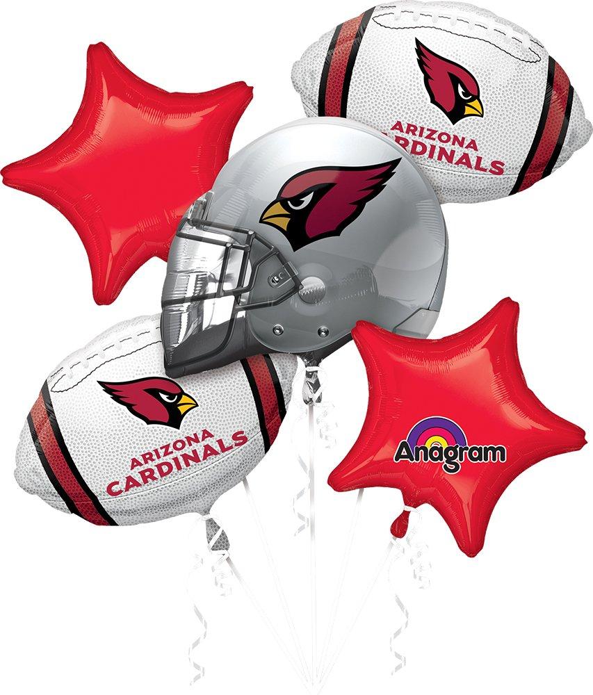 Anagram Bouquet Cardinals Foil Balloons, Multicolor