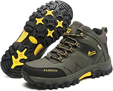 Mens Autumn Big Size Trail Hiking Boots Waterproof Non Slip Sports Outdoor Shoes