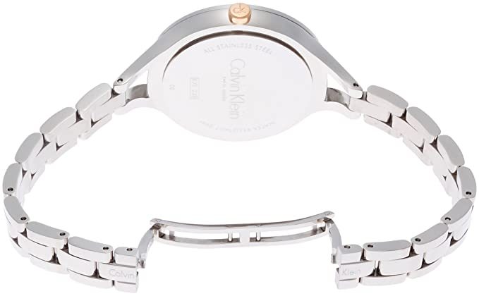 Amazon.com: Calvin Klein Womens Steel Bracelet & Case Swiss Quartz Silver-Tone Dial Analog Watch K7E23B46: Watches