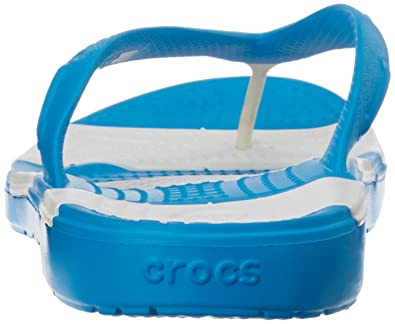 c1b31383925 crocs Unisex Beach Line Ocean and White Rubber Flip Flops Thong Sandals -  M11 (15335-49Y)  Buy Online at Low Prices in India - Amazon.in