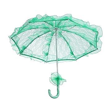 BESTOYARD Sombrilla de Estilo Elegante de Boda Paraguas de Encaje Decoración de Boda Sombrilla de Novia