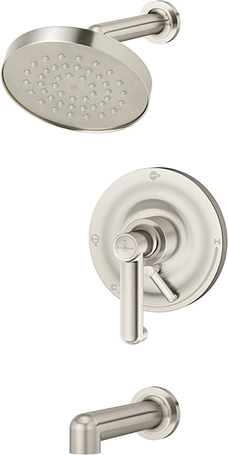 Symmons S-5300TS-STN Museo Single Handle Tub and Shower Valve with Integral Diverter in Satin Nickel