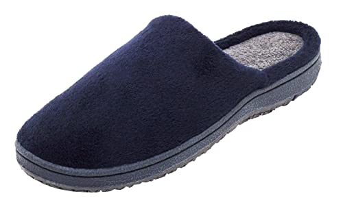 on sale f0648 33950 Dynamic24 Unisex Damen Herren Wellness Soft Hausschuhe Gr. 39-45  Pantoletten Pantoffeln Puschen Slipper Komfort Schuhe Bequemschuhe Feste  Sohle Navy ...
