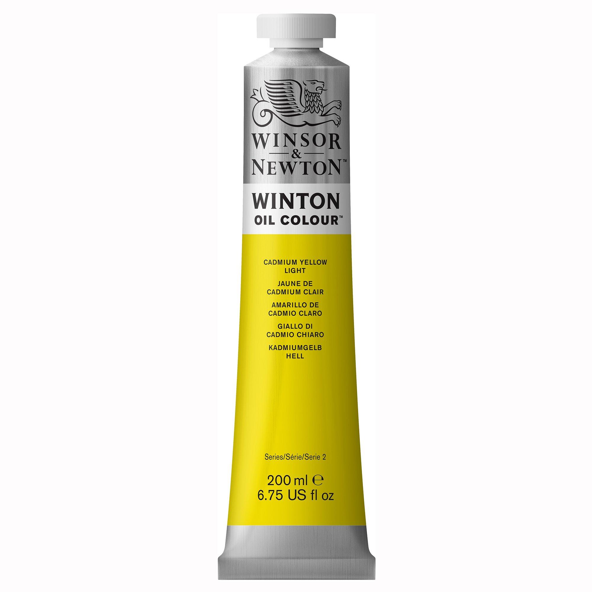Winsor & Newton 1437113 Winton Oil Color Paint, 200-ml Tube, Cadmium Yellow Light