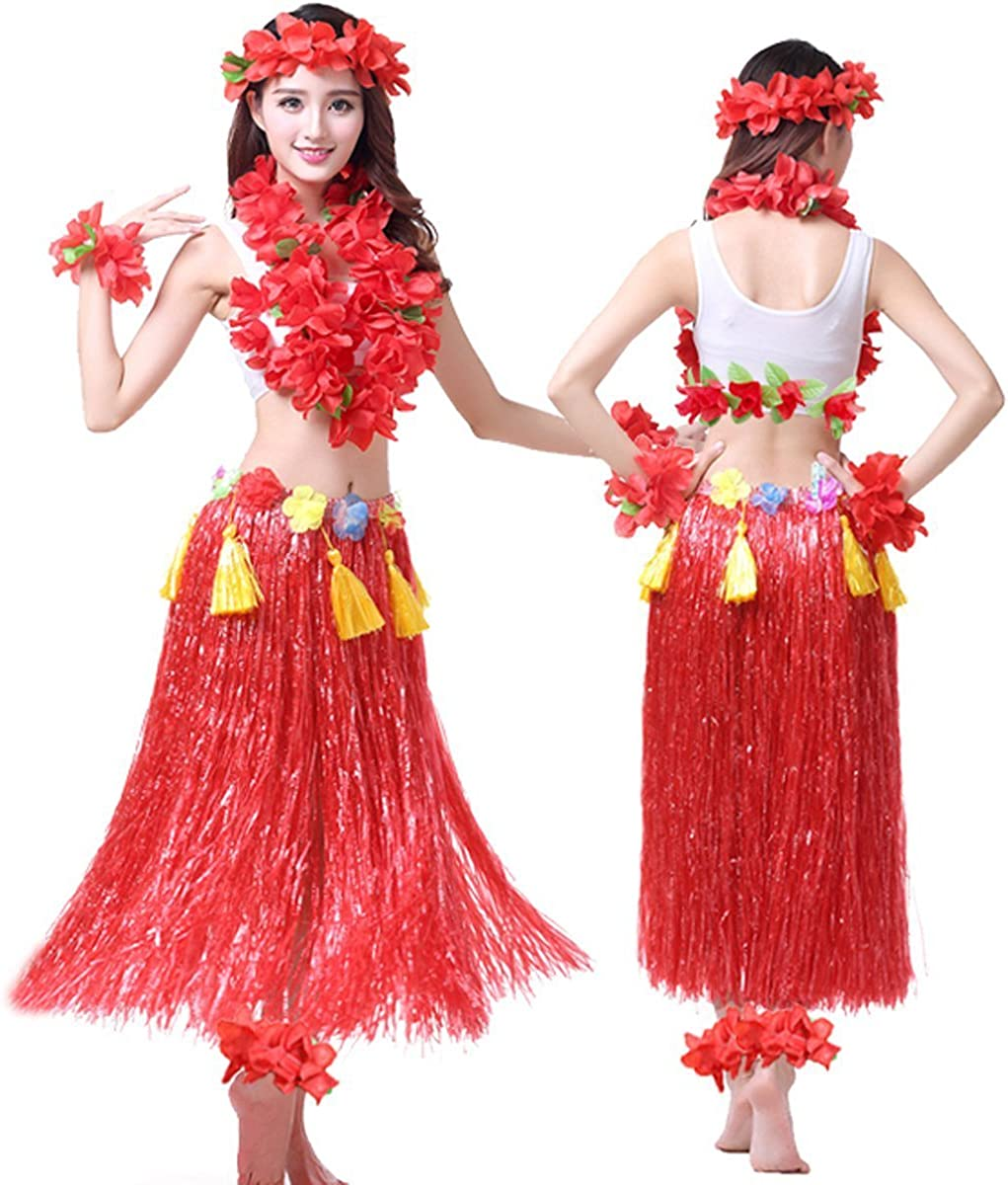 Amazon.com: Hawaii hula hoop – Adulto vestido Ocho pieza ...