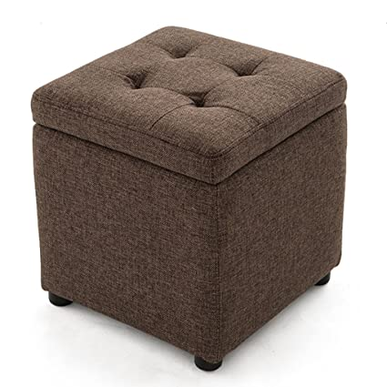 Charmant Footstools YXX  Cloth Low Red Brown Storage Stool Shoe Bench Foyer Sofa  Stool Living Room