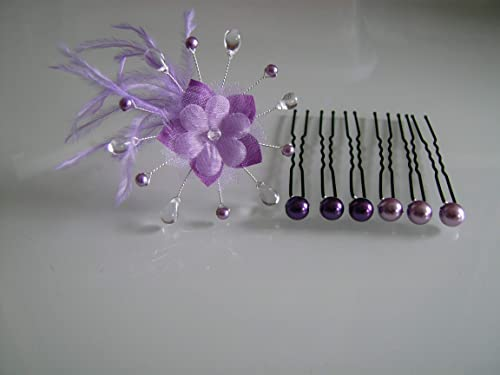 Lot Pics Violet clair Mauve Parme Lilas Cristal Bijoux ...