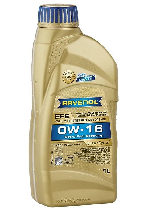 Amazon.com: RAVENOL J1A1507 SAE 0W-16 aceite para motor ...