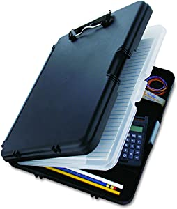 Saunders WorkMate II 00552 Plastic Storage Clipboard - Black, Letter Size Plastic Form Holder, 9 x 12 Inches, with Low Profile Clip
