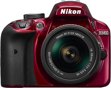 Nikon D3400 + AF-P 18–55VR - Cámara digital, VR 24.2MP CMOS 6000 x ...