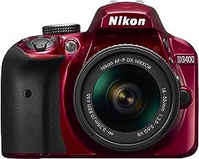 Nikon D3400 w/AF-P DX NIKKOR 18-55mm f/3.5-5.6G VR (Red)