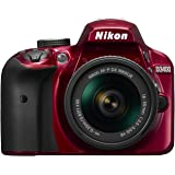 Nikon D3400 + AF-P 18–55VR - Cámara digital, VR 24.2MP CMOS 6000 x 4000 Pixeles, color Rojo