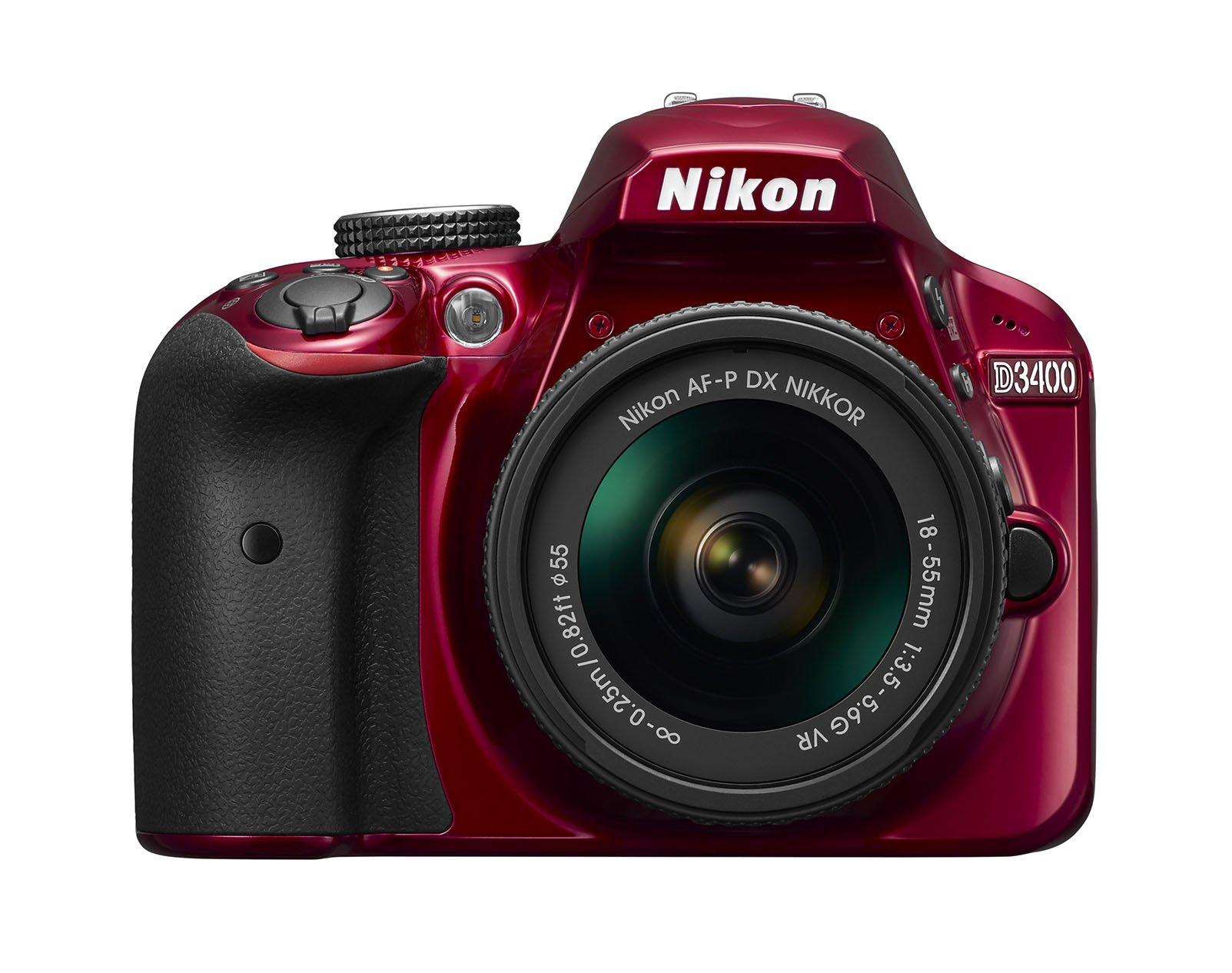 Nikon D3400 w/ AF-P DX NIKKOR 18-55mm f/3.5-5.6G VR (Red) by Nikon