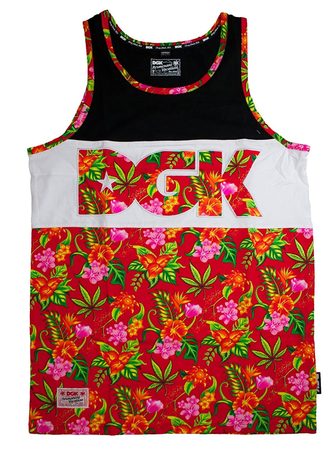 DGK Men's SleevelessVest Multicoloured Botanik