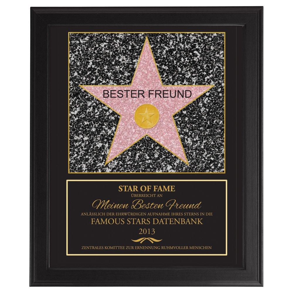 Amazon.de: Star Of Fame - Bester Freund - Hollywood Stern - Urkunde ...