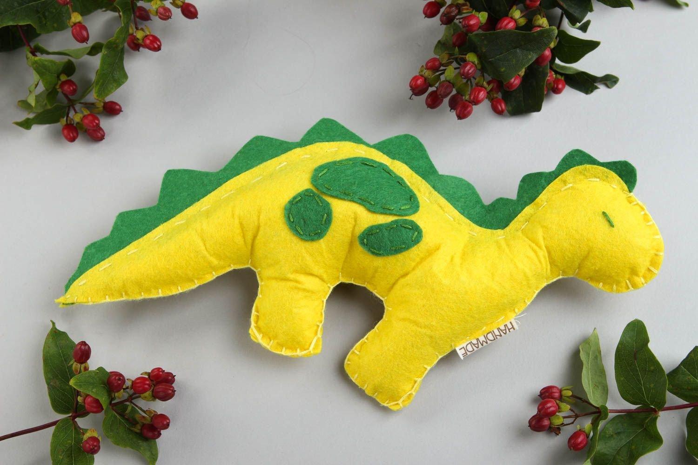 Unusual handmade soft toy stuffed fabric toy felt dinosaur toy birthday gifts: Amazon.co.uk: Toys & Games