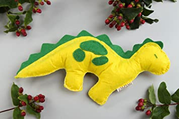 Juguete de fieltro hecho a mano dinosaurio de peluche regalo original para nino