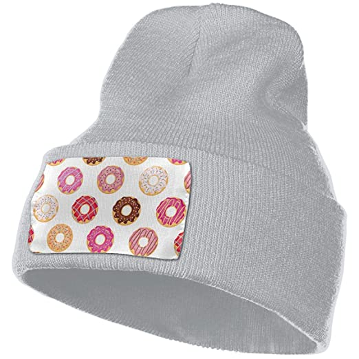 c75f49f56c9 QWENSKATION Doughnut Knit Ribbed Cuffed Beanie Skull Cap Hat at Amazon  Men s Clothing store