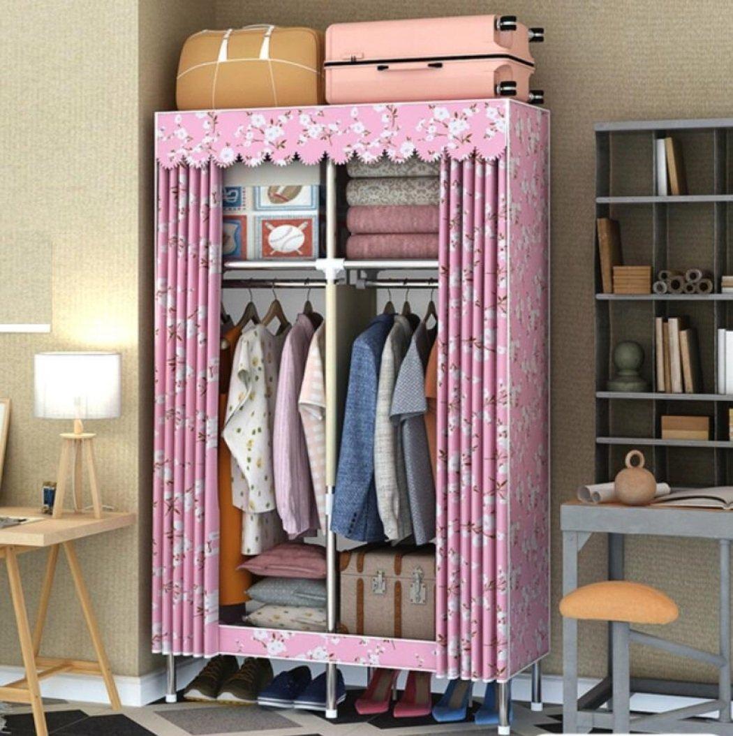 GY&H Placards pliables portables Oxford Cloth Wardrobe Armoire à vêtements Assembler une garde-robe (42 * 70) -E