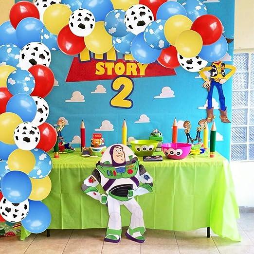 Wolkenballons Garland Arch Kit Für Flugzeug Geburtstagsfeier Babyparty Mit Latexballons Mit Wolkenkuh Aufdruck Küche Haushalt