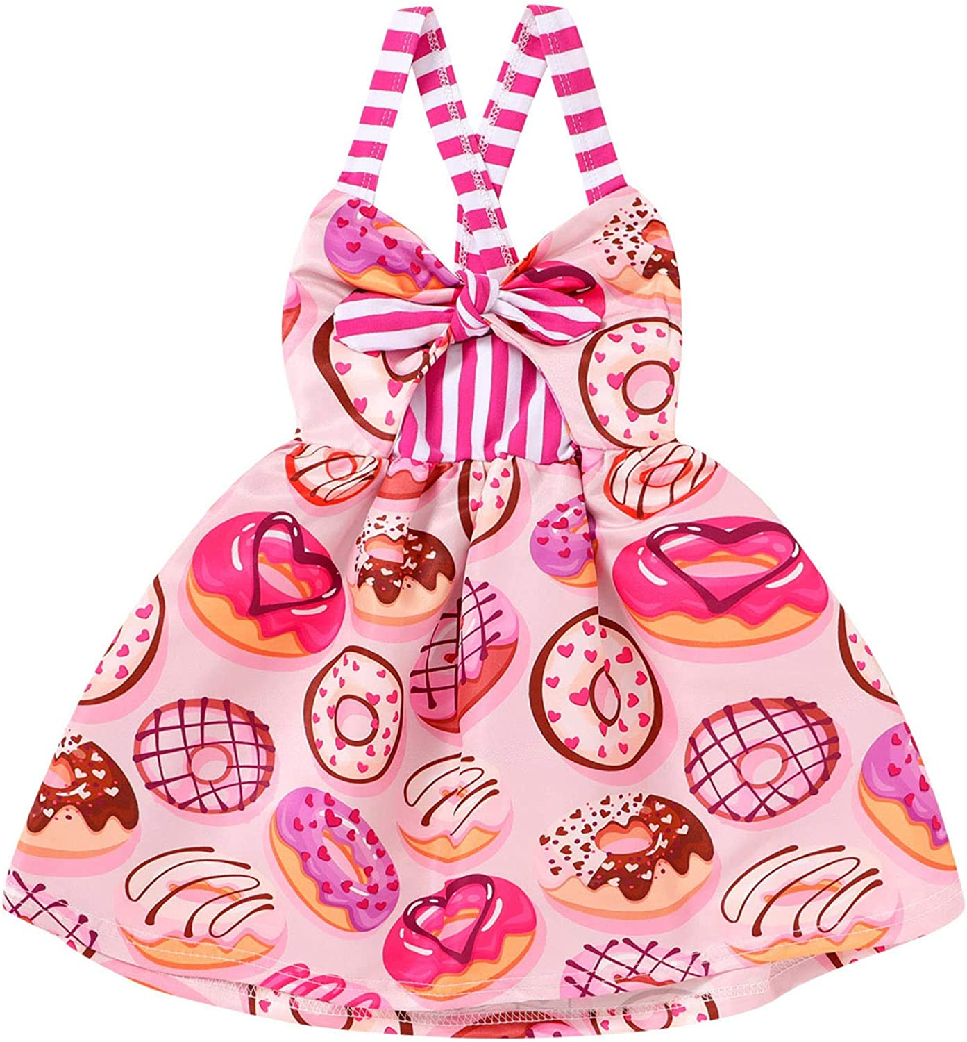 cute baby girl clothes beach holiday outfit toddler summer ice cream skirt 1,5-3 years organic popsicle layered skirt birthday gift idea