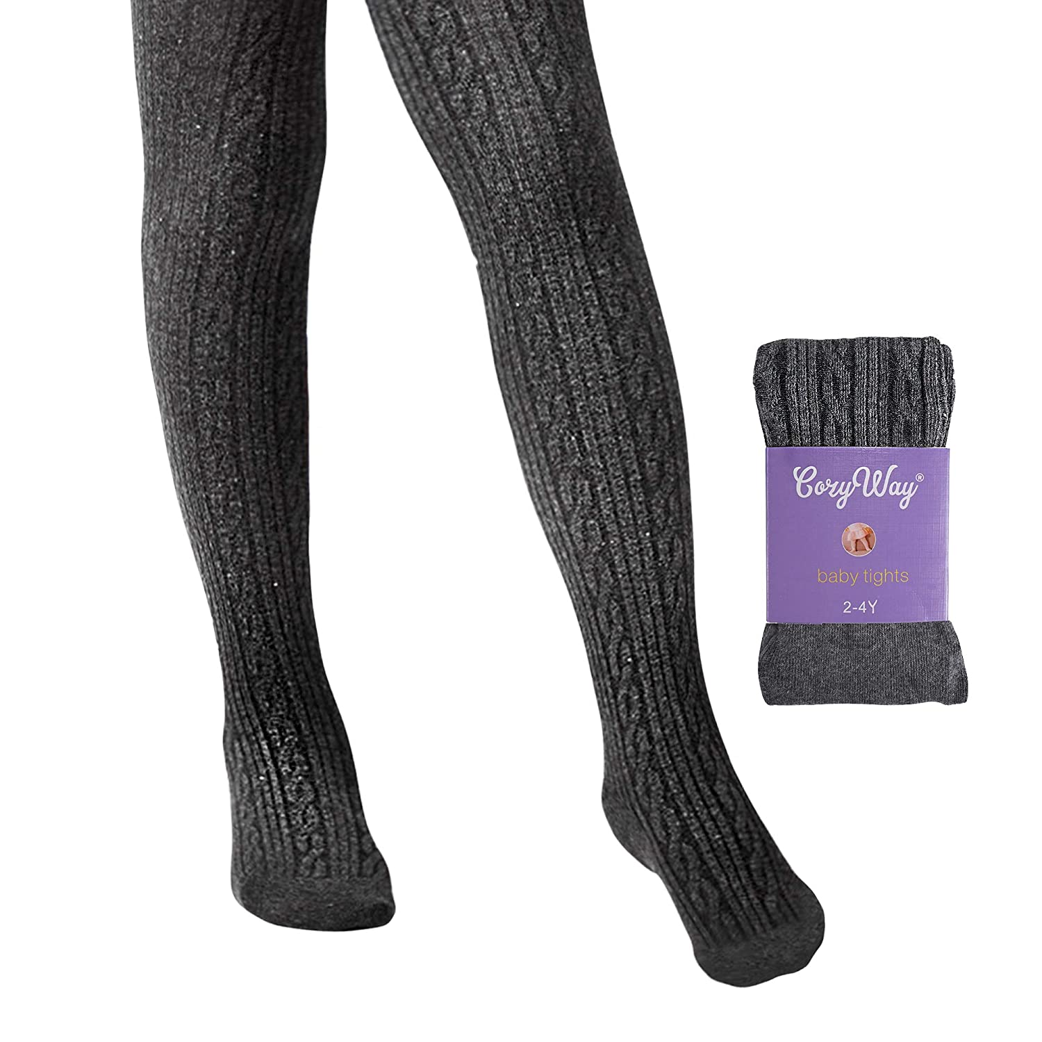 CozyWay Girls Tights Cable Knit Tights for Toddler Girl Pantyhose Leggings Seamless 2t 4t 6t 8t 10t
