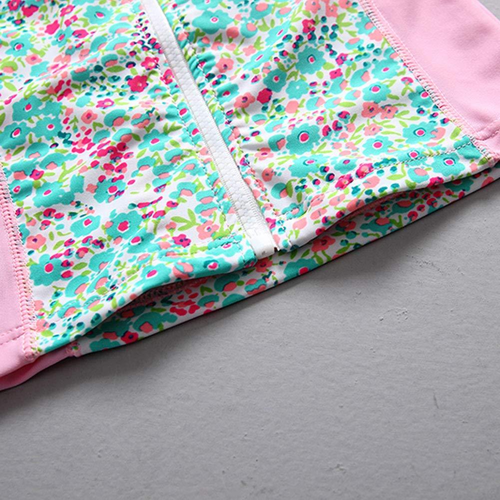 Happy Cherry Toddler Girls Swim Suits UPF 50 Rash Guard Shirts Shorts Hat Set