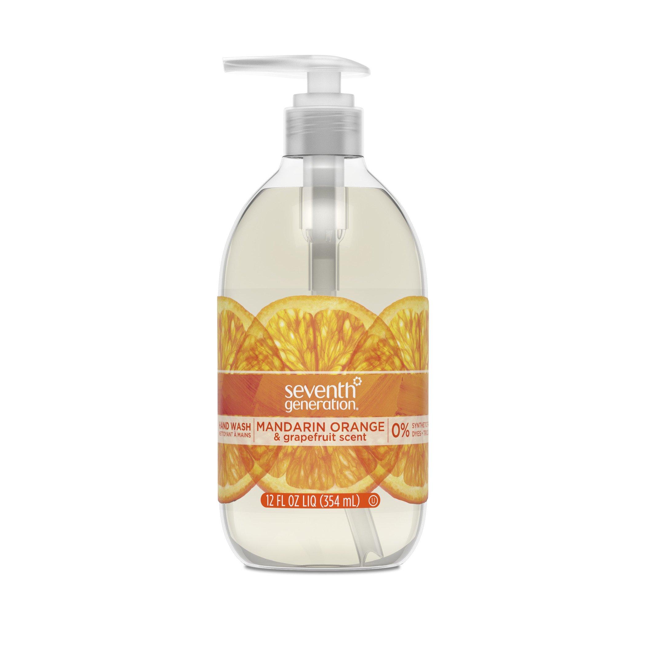 Seventh Generation Hand Wash Soap, Mandarin Orange & Grapefruit, 12 Fl Oz, (Pack of 8)
