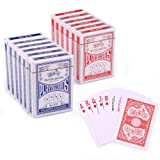 Playing Cards, Poker Size Standard Index, 12 Decks of Cards (6 Blue and 6 Red) by LotFancy