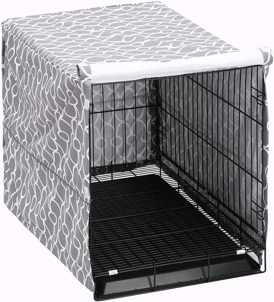 Dog Crate Cover for Wire Crates, Fits Most 36 inch Dog Crates. Easy to Put On, Take Off, and Adjust – Cover only